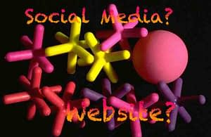 Website and social media platforms synchronised