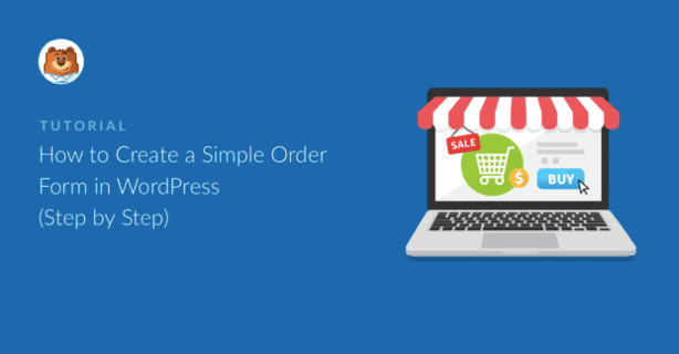 How to create a simple order form