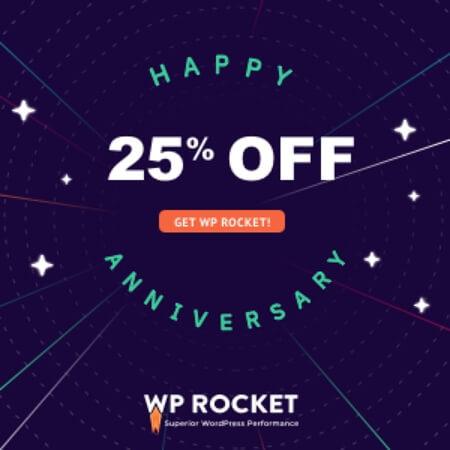 WP Rocket Anniversary Promotion